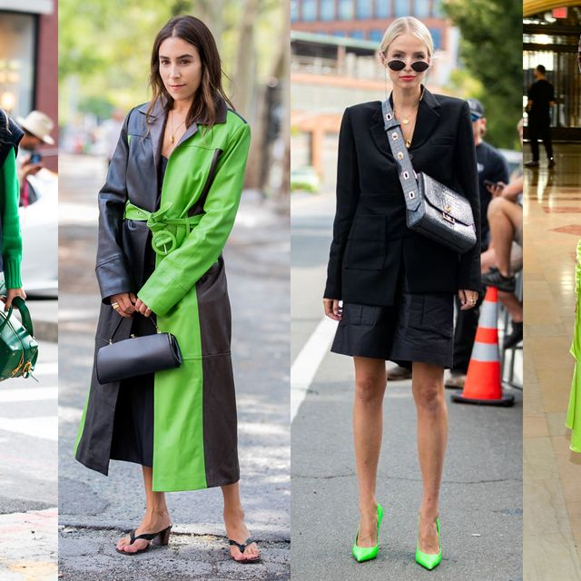 Clothing, Footwear, Leg, Green, Coat, Trousers, Bag, Outerwear, Fashion accessory, Luggage and bags,