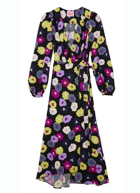 Yellow, Sleeve, Pattern, Textile, Purple, Pink, Magenta, Violet, Lavender, Day dress,