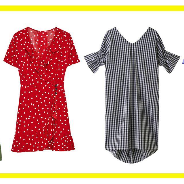 Clothing, Polka dot, Pattern, Dress, Sleeve, Design, Pattern, Day dress, T-shirt, Blouse,