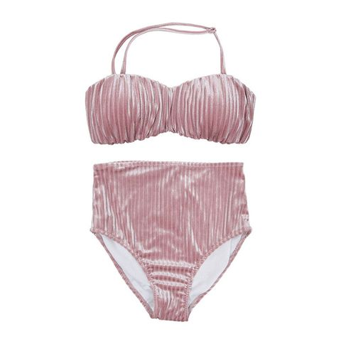 Clothing, Bikini, Swimwear, Lingerie, Pink, Undergarment, Swimsuit bottom, Lingerie top, Swimsuit top, Briefs,