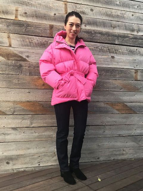 Clothing, Pink, Outerwear, Red, Jacket, Hood, Coat, Parka, Magenta, Fashion,