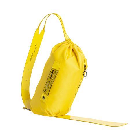 Product, Yellow, Bag, Beige, Shoulder bag, Leather, Strap, Handbag, Fashion design, Hobo bag,