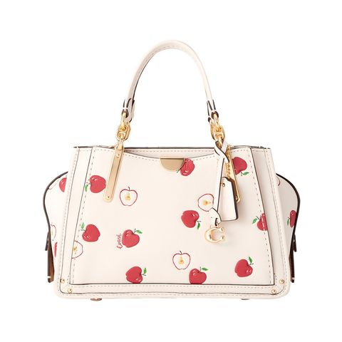 Handbag, Bag, White, Shoulder bag, Fashion accessory, Beige, Material property, Font, Luggage and bags, Tote bag,