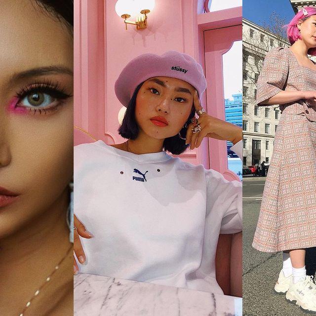 Lip, Skin, Eyelash, Style, Fashion, Beauty, Street fashion, Eye shadow, Eye liner, Peach,