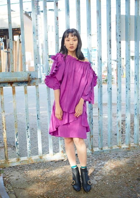 Pink, Clothing, Purple, Street fashion, Footwear, Fashion, Beauty, Magenta, Violet, Outerwear,