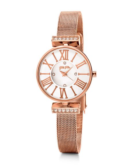 Watch, Analog watch, Watch accessory, Fashion accessory, Strap, Jewellery, Tan, Brown, Material property, Beige,