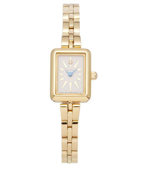 Watch, Analog watch, Watch accessory, Fashion accessory, Jewellery, Strap, Material property, Beige, Brand, Gold,
