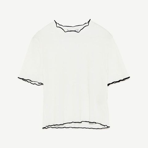 White, Clothing, Sleeve, T-shirt, Collar, Font, Neck, Top, Blouse, Illustration,