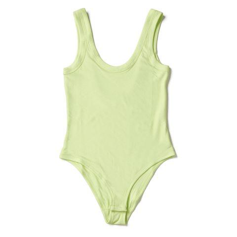 Clothing, Undergarment, Yellow, Undergarment, One-piece swimsuit, Lingerie, Swimwear, camisoles, Brassiere, Monokini,