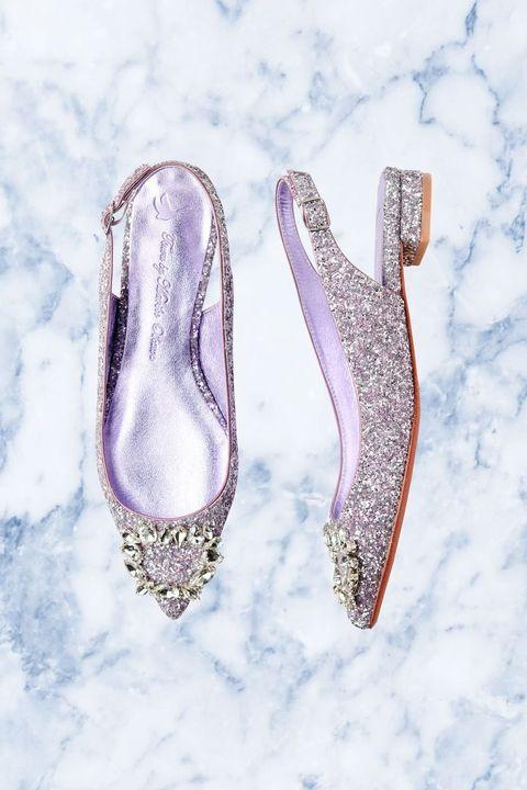 Footwear, Shoe, Glitter, Font, Fashion accessory, Silver, Jewellery, Ballet flat, Metal,
