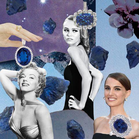 Blue, Collage, Beauty, Headpiece, Purple, Fashion, Art, Fashion accessory, Photography, Illustration,