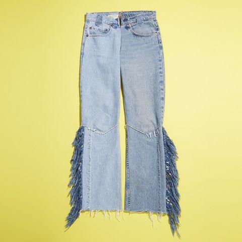 Clothing, Blue, Yellow, Denim, Trousers, Jeans, Textile, Pocket, Electric blue, Fashion,