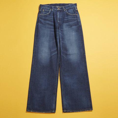 Clothing, Blue, Yellow, Denim, Pocket, Jeans, Textile, Electric blue, Azure, Cobalt blue,