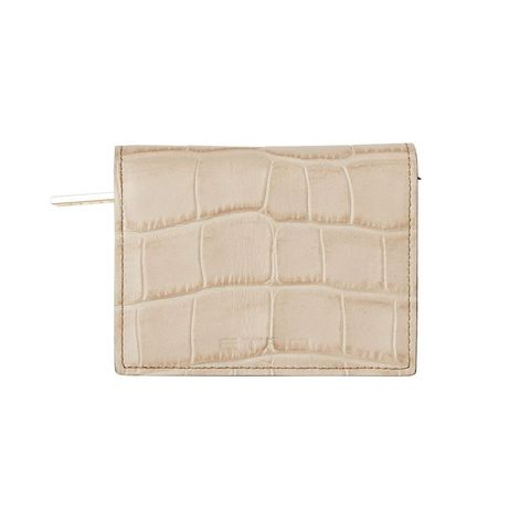 Beige, Wallet, Tan, Fashion accessory, Rectangle, Leather, Coin purse,