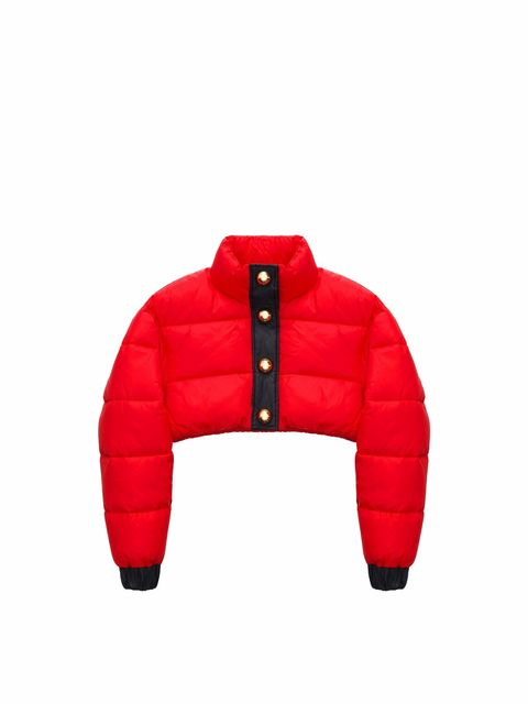 Red, Clothing, Jacket, Outerwear, Sleeve, Hood,
