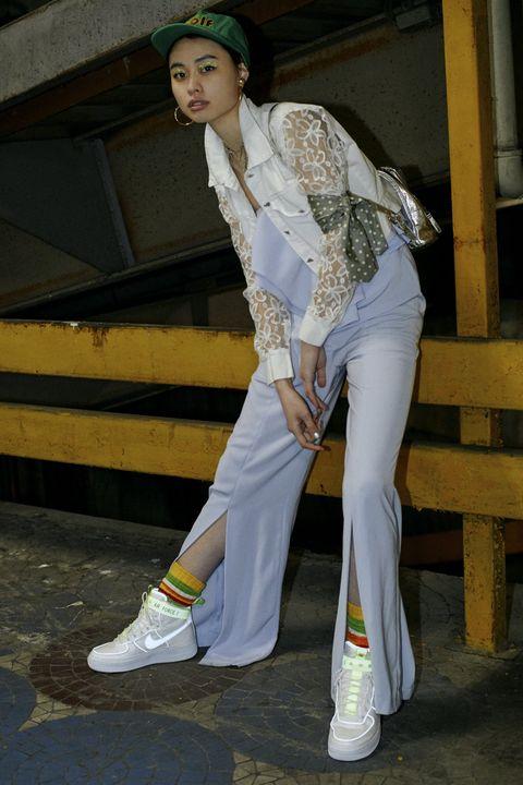 White, Fashion, Fashion design, Textile, Trousers, Shoe, Jeans,