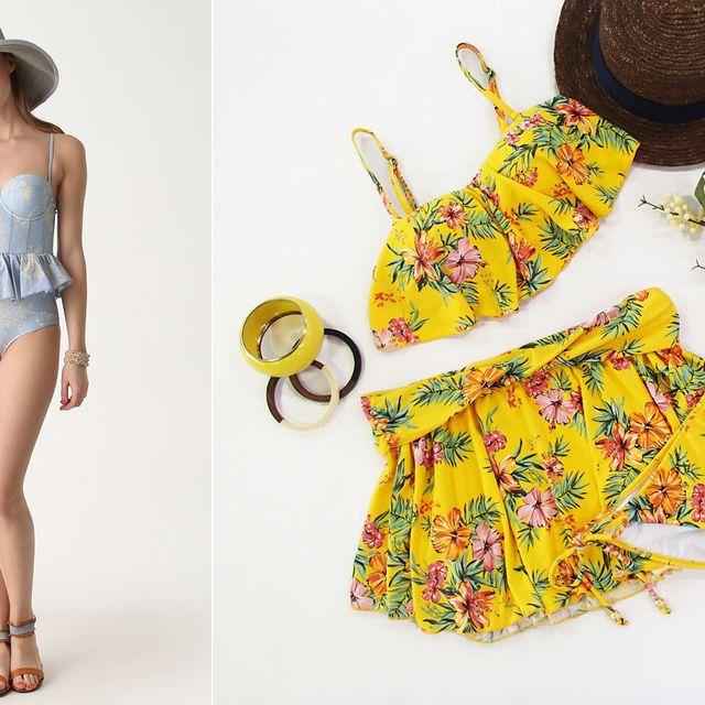 Clothing, Yellow, Footwear, Swimwear, Outerwear, Bikini, Neck, Pattern, Plant, Pineapple,