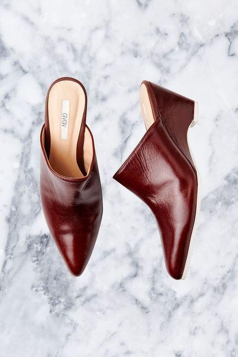 Footwear, Red, Shoe, High heels, Brown, Basic pump, Slingback, Court shoe,