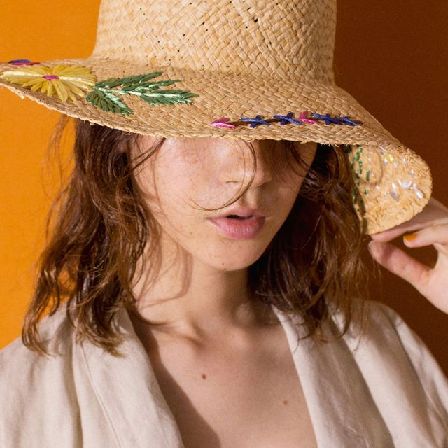 Hat, Clothing, Fashion accessory, Sun hat, Headgear, Costume hat, Costume accessory, Neck, Sombrero, Jewellery,