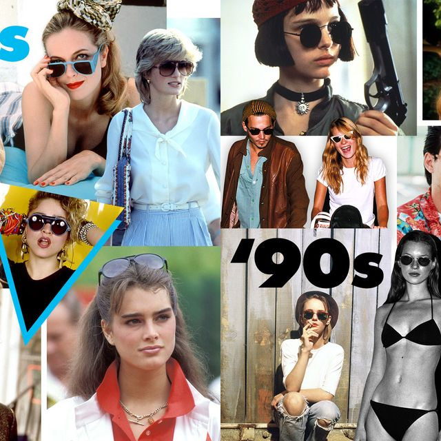 Clothing, Eyewear, Glasses, Vision care, Sunglasses, Fashion accessory, Style, Collage, Summer, Cool,