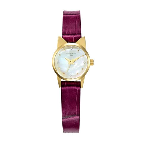 Analog watch, Watch, Watch accessory, Violet, Strap, Fashion accessory, Purple, Jewellery, Material property, Quartz,