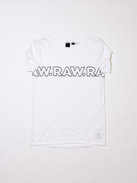 White, Clothing, T-shirt, Text, Sleeve, Top, Font, Brand, Logo,
