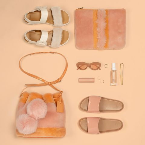 Footwear, Eyewear, Peach, Pink, Glasses, Material property, Finger, Shoe,