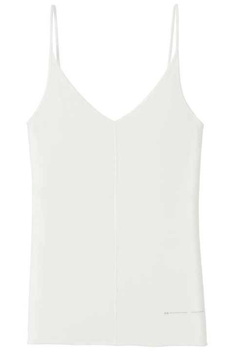 White, Clothing, Sleeveless shirt, camisoles, Undergarment, Undershirt, Outerwear, Vest, Sportswear, Shirt,