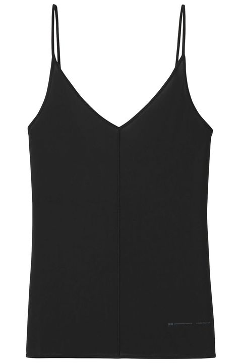 Clothing, Black, camisoles, Undergarment, Sleeveless shirt, Crop top, Outerwear, Vest, Sportswear, Shirt,