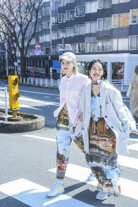 Trousers, Outerwear, Street, Hat, Style, Street fashion, Bag, Luggage and bags, Pedestrian, Snapshot,