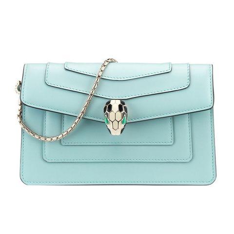 Bag, Handbag, Fashion accessory, Aqua, Turquoise, Shoulder bag, Leather, Kelly bag, Silver, Rectangle,