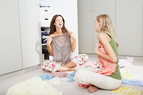 Room, Pink, Comfort, Foot, Linens, Nightwear, Barefoot, Pattern, Pajamas, Bedroom,