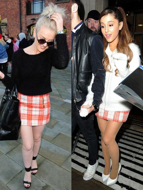 Clothing, Leg, Textile, Human leg, Outerwear, Sunglasses, Bag, Pattern, Style, Plaid,