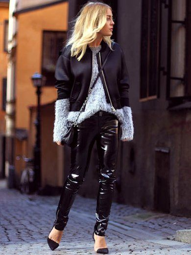 Clothing, Brown, Textile, Joint, Outerwear, Style, Street fashion, Knee, Beauty, Leather,