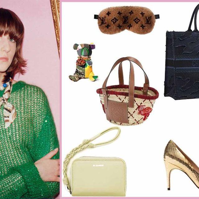 Product, Bangs, Style, Bag, Fashion, Tan, Beige, Shoulder bag, Sandal, Red hair,