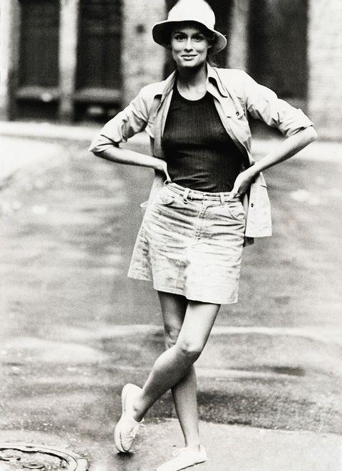 Clothing, Hat, Sleeve, Human leg, Shirt, Photograph, Joint, White, Standing, Monochrome,