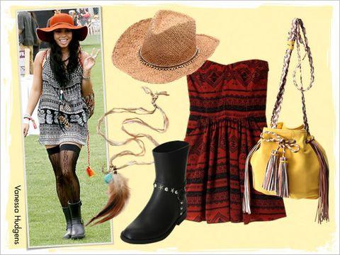 Hat, Boot, Dress, Style, Fashion accessory, Sun hat, Headgear, Fashion, Bag, Riding boot,