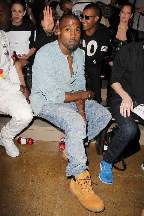Footwear, Leg, Shoe, Trousers, Social group, Cool, Fashion, Denim, Black hair, Sneakers,