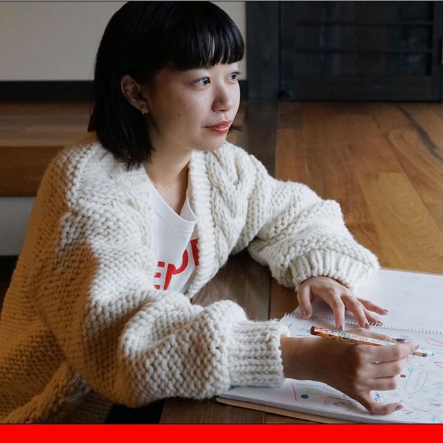 Sweater, Sitting, Black hair, Bangs, Paper, Reading, Learning, Document, Woolen, Hime cut,
