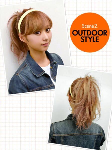 Hair, Head, Hairstyle, Collar, Denim, Style, Dress shirt, Bangs, Brown hair, Long hair,