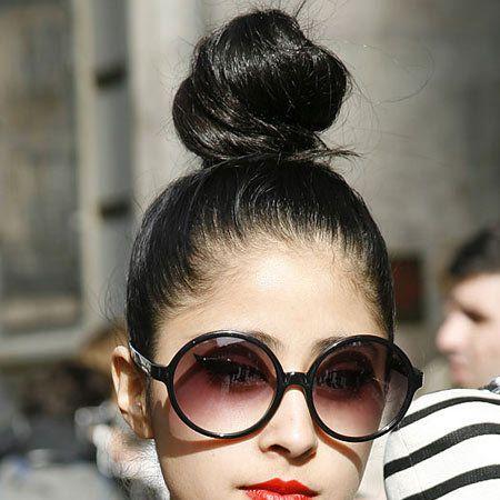 Eyewear, Hair, Head, Ear, Vision care, Glasses, Hairstyle, Style, Earrings, Black hair,