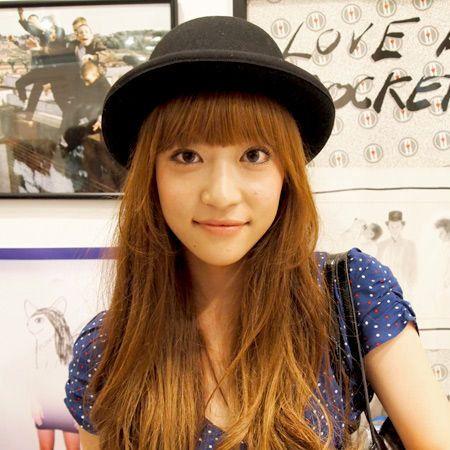 Lip, Hat, Style, Wrist, Headgear, Beauty, Long hair, Pattern, Black hair, Street fashion,