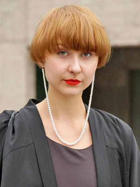 Clothing, Face, Lip, Jewellery, Hairstyle, Chin, Forehead, Fashion accessory, Bangs, Style,