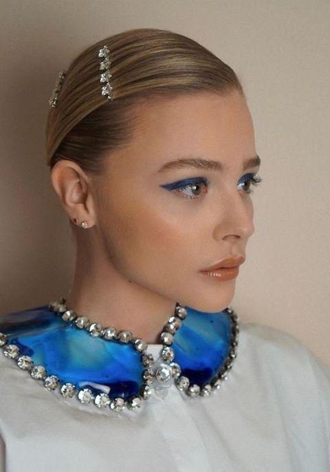 Head, Ear, Blue, Lip, Hairstyle, Chin, Forehead, Eyebrow, Eyelash, Fashion accessory,