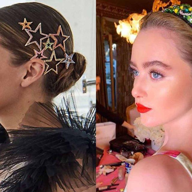 Head, Ear, Hairstyle, Forehead, Hair accessory, Eyebrow, Eyelash, Headpiece, Style, Beauty,