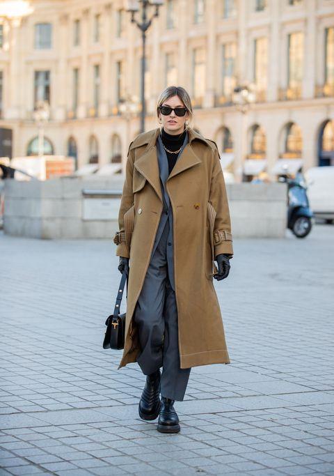 Clothing, Eyewear, Coat, Trousers, Sunglasses, Street, Outerwear, Bag, Style, Street fashion,