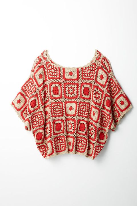 Product, Sleeve, Textile, Pattern, Collar, Sweater, White, Red, Baby & toddler clothing, Carmine,