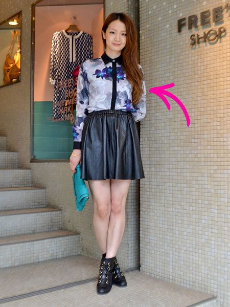Clothing, Stairs, Sleeve, Human leg, Collar, Textile, Outerwear, Style, Waist, Street fashion,