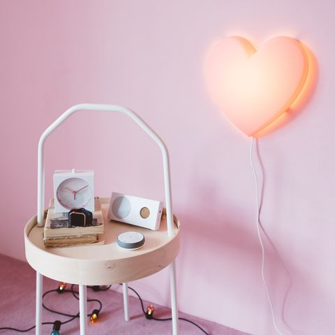 Love, Heart, Peach, Cable, Electronics, Electrical supply, Wire,