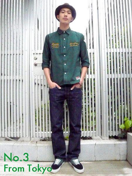 Clothing, Dress shirt, Collar, Sleeve, Trousers, Denim, Flowerpot, Standing, Pocket, Jeans,